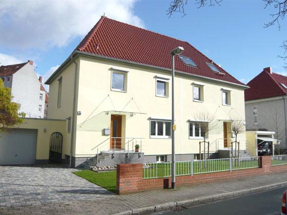 Energetische Sanierung von zwei Doppelhaushälften